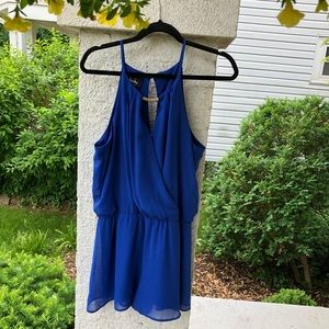 By & By cobalt blue romper new and never worn